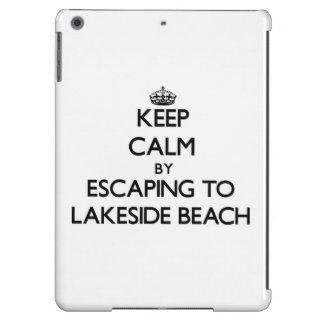 Keep calm by escaping to Lakeside Beach Michigan iPad Air Case