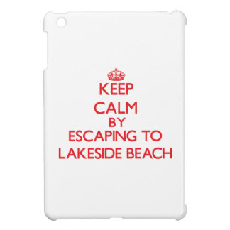 Keep calm by escaping to Lakeside Beach Michigan Cover For The iPad Mini