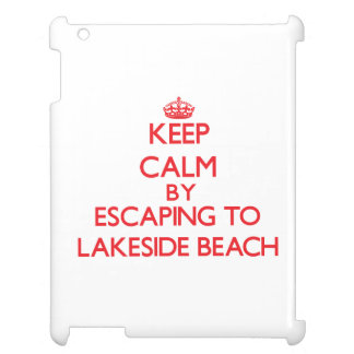 Keep calm by escaping to Lakeside Beach Michigan iPad Covers