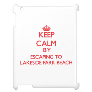 Keep calm by escaping to Lakeside Park Beach Wisco iPad Case