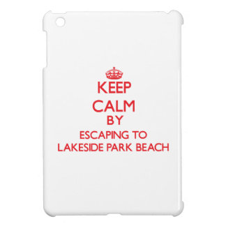 Keep calm by escaping to Lakeside Park Beach Wisco Cover For The iPad Mini