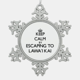 Keep calm by escaping to Lawa'I Kai Hawaii Ornament