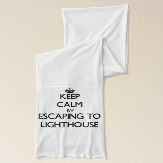 Keep calm by escaping to Lighthouse Massachusetts Scarf