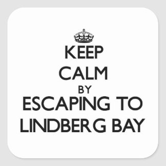 Keep calm by escaping to Lindberg Bay Virgin Islan Square Sticker