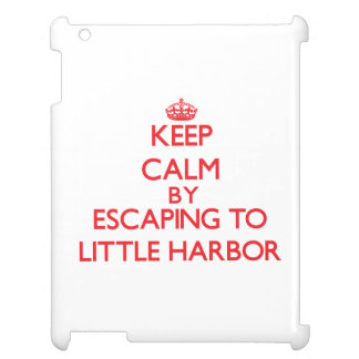 Keep calm by escaping to Little Harbor Massachuset iPad Cover