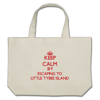 Keep calm by escaping to Little Tybee Island Georg Tote Bag