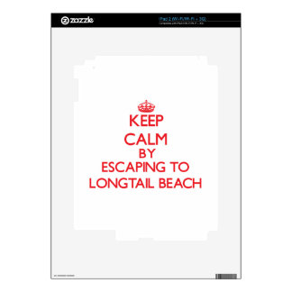 Keep calm by escaping to Longtail Beach Wisconsin iPad 2 Decals