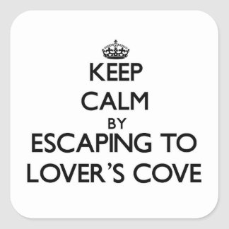 Keep calm by escaping to Lover S Cove Washington Sticker