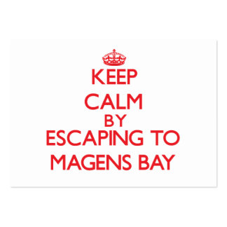 Keep calm by escaping to Magens Bay Virgin Islands Business Card Templates