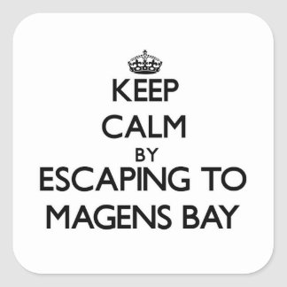 Keep calm by escaping to Magens Bay Virgin Islands Square Sticker