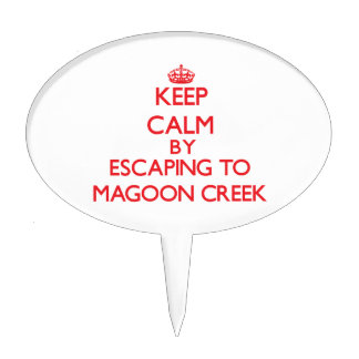 Keep calm by escaping to Magoon Creek Michigan Cake Picks