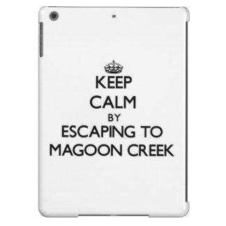 Keep calm by escaping to Magoon Creek Michigan Case For iPad Air
