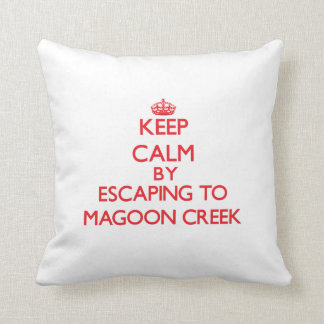 Keep calm by escaping to Magoon Creek Michigan Throw Pillow