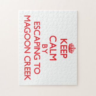 Keep calm by escaping to Magoon Creek Michigan Jigsaw Puzzles