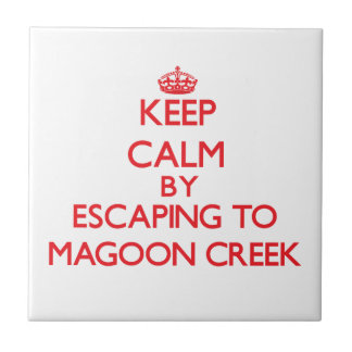 Keep calm by escaping to Magoon Creek Michigan Ceramic Tiles