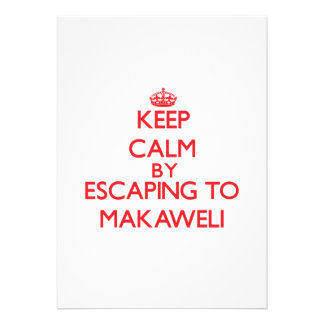 Keep calm by escaping to Makaweli Hawaii Personalized Invites