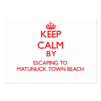 Keep calm by escaping to Matunuck Town Beach Rhode Large Business Cards (Pack Of 100)