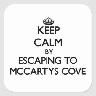 Keep calm by escaping to Mccartys Cove Michigan Stickers