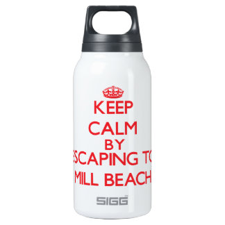 Keep calm by escaping to Mill Beach Oregon 10 Oz Insulated SIGG Thermos Water Bottle
