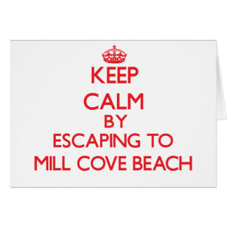 Keep calm by escaping to Mill Cove Beach Rhode Isl Greeting Card