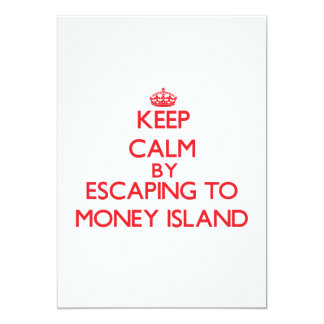 Keep calm by escaping to Money Island New Jersey 5x7 Paper Invitation Card