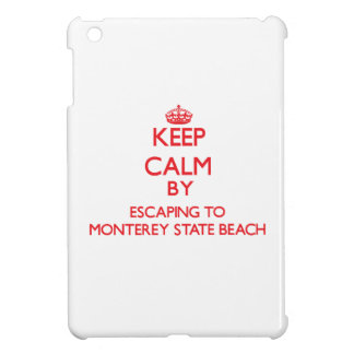 Keep calm by escaping to Monterey State Beach Cali Case For The iPad Mini
