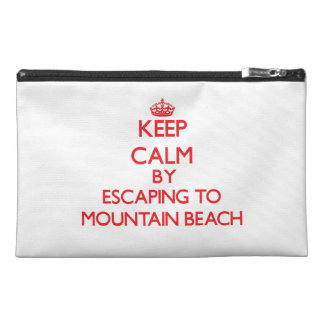 Keep calm by escaping to Mountain Beach Michigan Travel Accessory Bag