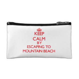 Keep calm by escaping to Mountain Beach Michigan Cosmetic Bag