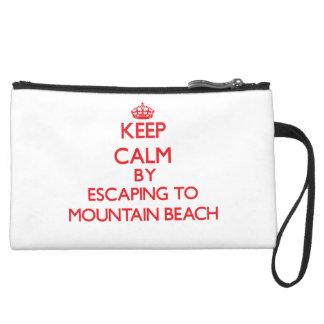 Keep calm by escaping to Mountain Beach Michigan Wristlet
