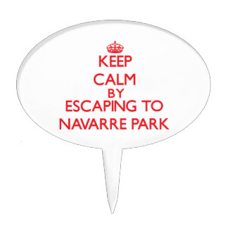Keep calm by escaping to Navarre Park Florida Cake Toppers