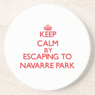 Keep calm by escaping to Navarre Park Florida Beverage Coasters