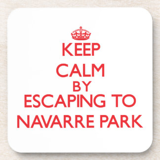 Keep calm by escaping to Navarre Park Florida Drink Coasters