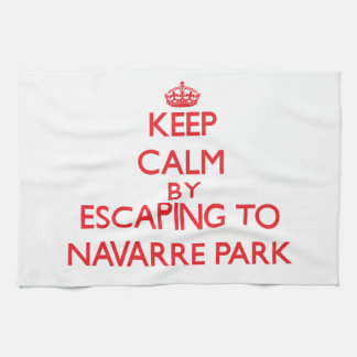 Keep calm by escaping to Navarre Park Florida Hand Towel