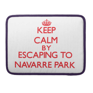 Keep calm by escaping to Navarre Park Florida MacBook Pro Sleeve