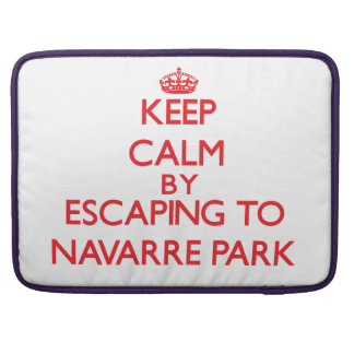 Keep calm by escaping to Navarre Park Florida Sleeve For MacBook Pro