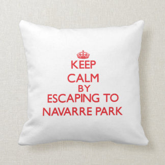 Keep calm by escaping to Navarre Park Florida Pillow