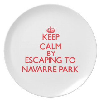 Keep calm by escaping to Navarre Park Florida Party Plate