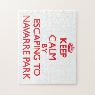 Keep calm by escaping to Navarre Park Florida Jigsaw Puzzle