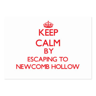 Keep calm by escaping to Newcomb Hollow Massachuse Business Card Template