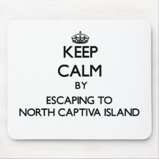 Keep calm by escaping to North Captiva Island Flor Mouse Pads