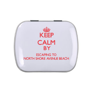 Keep calm by escaping to North Shore Avenue Beach Jelly Belly Tins