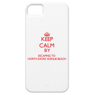 Keep calm by escaping to North Shore Avenue Beach iPhone 5 Cases