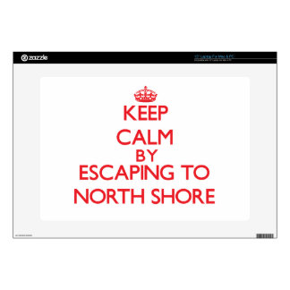 "Keep calm by escaping to North Shore Florida 15"" Laptop Decal"