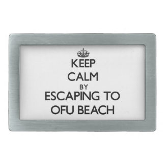 Keep calm by escaping to Ofu Beach Samoa Belt Buckles