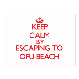 Keep calm by escaping to Ofu Beach Samoa Business Cards