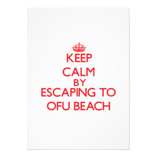 Keep calm by escaping to Ofu Beach Samoa Personalized Invitation