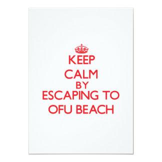 "Keep calm by escaping to Ofu Beach Samoa 5"" X 7"" Invitation Card"