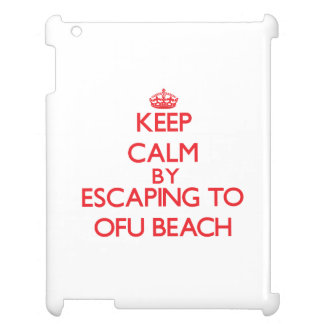 Keep calm by escaping to Ofu Beach Samoa iPad Cover
