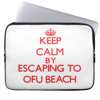 Keep calm by escaping to Ofu Beach Samoa Computer Sleeve