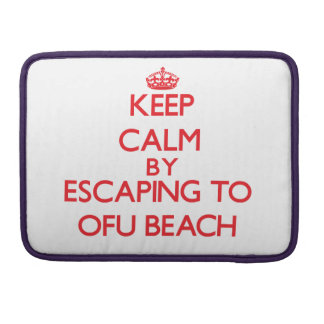 Keep calm by escaping to Ofu Beach Samoa MacBook Pro Sleeves